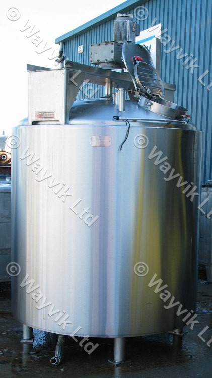 L Stainless Steel Jacketed Mixing Vessels